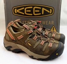 NWB KEEN Size 7 W Atlanta Cool Brown Steel Toe Women's Hiking Shoes Retail $135