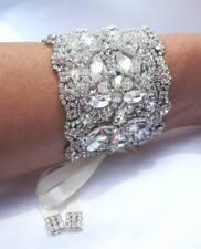 Wedding Bridal Crystal Bracelet Cuff