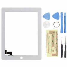 New White Touch Screen Glass Digitizer Replacement + Adhesive for iPad 2 + Tools