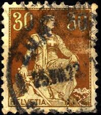 "SWITZERLAND - SVIZZERA - 1908 - Allegoria dell'""Helvetia"" - 40 cent. (I tipo)"