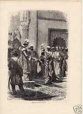 Antique print Begum Bhopal India / portrait Louis Rousselet Jules Schaumburg