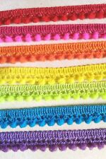 7 yards - Mix 7 rainbow colors tiny pom pom trim pom pom size 10 mm