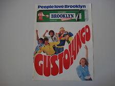 advertising Pubblicità 1980 BROOKLYN CHEWING GUM PERFETTI
