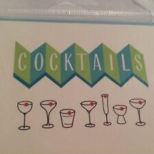 Retro 1950's Cocktail Invitations Viva Las Vegas Rock-a-Billy Parties Set of 8