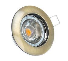 LED Einbaustrahler Bronze Alu-Druckguss GU10 Rahmen Einbaurahmen Einbauleuchte