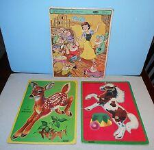 Vintage Frame-Tray Puzzles Saalfield Artcraft & Whitman Disney Snow White