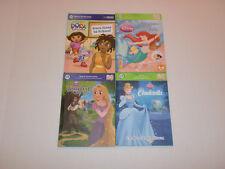 Leap Frog Tag Reader Bundle 4 Books: Dora; Tangled; Cinderella; Ariel