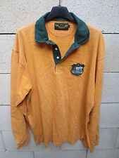 VINTAGE Maillot rugby AUSTRALIE AUSTRALIA shirt WALLABIES coton années 80 XL