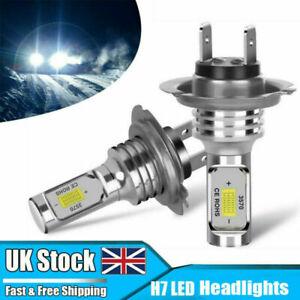 2x H7 LED Headlight Replace Xenon Hi/Low Kit Bulbs Beam 6000K Canbus Error Free