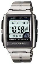 Casio Wave Ceptor WV-59DJ-1AJF Multiband 5 Radio Clock Mens Watch WR 5 BAR