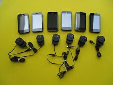 6 Preowned ALCATEL ONE TOUCH phones & cords ONLY - good working condition