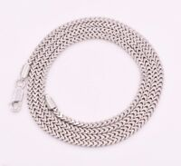 2.3mm Anti-Tarnish Solid Franco Chain Necklace Real 925 Sterling Silver ITALY