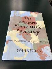 The Common Finno-Ugric Language: 4000 B.C.-3000 B.C. Workshee Edition