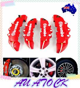 4Pcs/Set 3D Style Car Universal Disc Brake Caliper Covers Front & Rear Kits^new