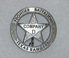 Texas Rangers Co. D Frontier Battalion Old West Replica Lawman Badge PH009