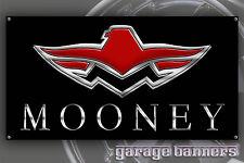 Mooney Airplane Garage Banner Shop Aviation Pilot Sign 2' x 4'