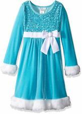 Bonnie Jean Big Girls' Santa Dresses, Aqua, 2T