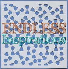 "6""x6"" Endless Inspirations Stencil, Bowties - Free US Shipping"