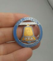Vintage PTA 25th Anniversary 1978 Parent Teacher Assoc. pin button pinback *EE71