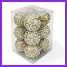 "Christmas Tree Ornament Balls 12 PK Glitter Decorated Foam 3"" LARGE GOLD Xmas Ba"
