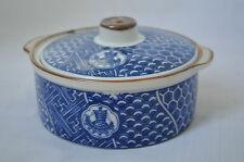 JAPANESE Blue White Porcelain Food Trinket Dish TAKAHASHI San Francisco JAPAN #Q