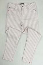 DENIM & CO Jeans Trouser Baby Pink White Size Uk 12 Pockets Skinny Tapered