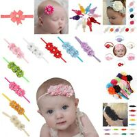 18PCS/set Kids Girls Baby Headband Toddler Lace Bow Flower Hair Band Accessories
