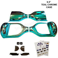 "TEAL CHROME 6.5"" Hoverboard Parts Plastic Shell Sweg Case 6.5 Inch Frame UK"
