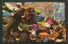 SPAIN MK 1960 STIERKAMPF STIER BULL TORO BULLFIGHT CARTE MAXIMUM CARD MC d4775