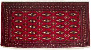 Vintage Red Tribal Design Small 2X4 Oriental Rug Entrance Kitchen Decor Carpet
