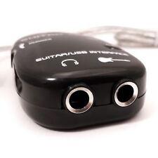 6,3 mm Jack A USB GUITAR LINK CAVO ADATTATORE PER CHITARRA A PC MAC riproduzione registrazione