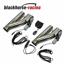 "2Pcs 2.5""Electric Exhaust Downpipe E-Cut Out Valve + One CONTROLLER REMOTE KIT"