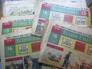 54 Pages Reading (PA) Eagle Sunday Comics from 1959