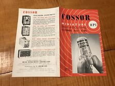 COSSOR MIniature Self Focusing Cathode Ray Tube 1Cp1 Brochure Electronics VTG