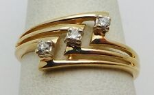 BEAUTIFUL Solid 14k Yellow Gold / Diamonds Ladies Ring * .07 CT TWT * Size 6.5