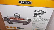 """BELLA 12""""x12"""" Non-Stick Electric Skillet NIB"""