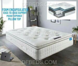 Foam Encapsulated Geltex Luxury Pillow Top Pocket Sprung Mattress RRP £1799.99