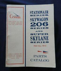 GENUINE 1964-73 CESSNA 206 STATIONAIR SKYWAGON SKYLANE AIRPLANE PARTS CATALOG NM