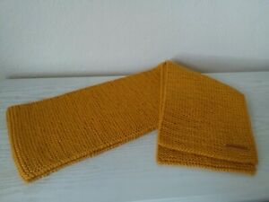 Handmade Hand-knitted Mustard Colour Scarf 162 X 20cm
