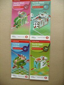 4 london transpot bus maps 2012