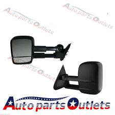 Black Extendable Caravan Towing Mirrors FOR Toyota Landcruiser 100 Series