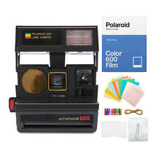 Polaroid Sun 660 Instant Film Camera with Color Film and Accessory Kit