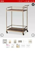 Targets THRESHOLD Gold Finish Bar Cart