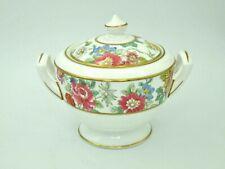 Royal Worcester Chinese Garden Lidded Sugar Bowl Covered Sugar Bowl