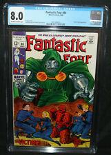 Fantastic Four #86 - Doctor Doom App - CGC Grade 8.0 - 1969