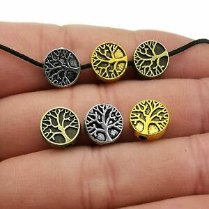 75 Tree of Life Charms Beads Antiqued Silver Gold Bronze Pendants Assorted Lot