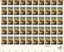More details for usa-united states 1983 20c postage christmas madonna sheet scot 2063 mnh