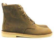 CLARKS Men's Desert Mali Leather Lace Up Boot in Beeswax - Size 9.5 - NEW