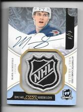 11-12 UD THE CUP DUAL ROOKIE AUTOGRAPH SHIELD MARK SCHEIFELE CARL KLINGBERG 1/1