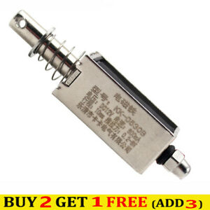 12V/24V Solenoid Electromagnet Electric Magnet Push-Pull Actuator Stroke 5-10mm
